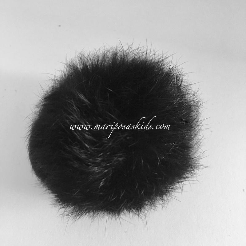 Pompón Pelo Natural Negro 6-8 cm  05075c24a86f
